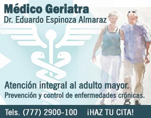 Médico Geriatra |  Servicio a Domicilio Priv. del Carmen No.9 Col. Las Palmas  Cuernavaca, Mor.