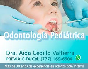 Experiencia de más de 30 años como especialista en odontología infantil Privada del Carmen No.9 Col. Las Palmas, Cuernavaca, Mor.
